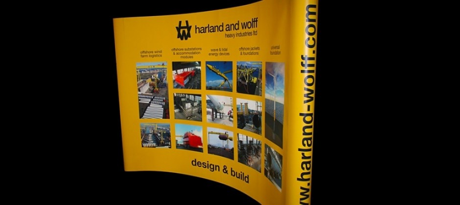 Harland and Wolff Pop Up Stand